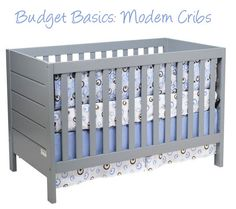 Never would've thought to do a gray crib, but I love this.
