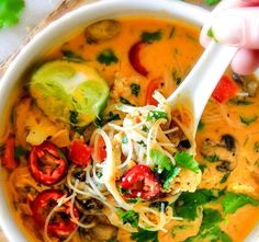 One Pot Thai Chicken Noodle Soup | Food Recipes