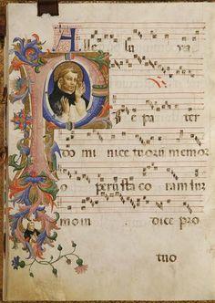 San Domenico in estasi e un Frate domenicano entro il fregio autore: Beato Angelico  tecnica: tempera e pennello