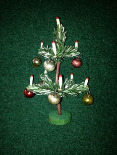 Original Weihnachtsbaum Christbaum mit Christbaumkugeln um 1930 Puppenstube in Antiquitäten & Kunst, Antikspielzeug, Puppen & Zubehör, Puppenstubenzubehör, Original, gefertigt vor 1970, Accessoires   eBay