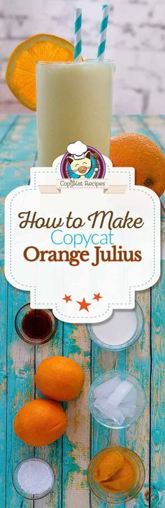 You can recreate the famous Orange Julius at home with this easy recipe.   This orange drink is full of flavor and perfect for a hot summer day.