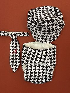 Boys Hat Tie and Diaper Cover Matching Set  Perfect by infantrie, $40.00