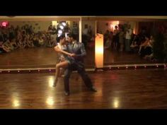 "Dionisis Theodoropoulos and Maria Kalogera dancing ""Canaro en Paris""  Show at Milonga Libertango, July 2010"