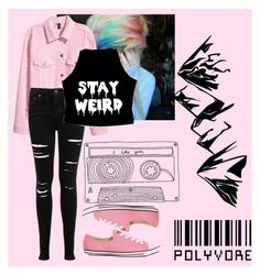 """""""Pastel Goth"""" by bvbptvsws ❤ liked on Polyvore featuring Miss Selfridge and Converse"""