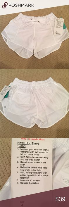 White Lululemon Shorts Perfect condition. Lining on the inside and pocket on the back. Smoke free home. lululemon athletica Shorts