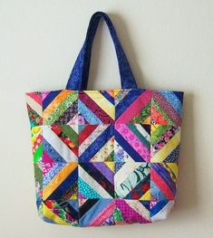 Patchwork-Taschen – – My World Crazy Patchwork, Patchwork Patterns, Bag Patterns To Sew, Tote Pattern, Patchwork Bags, Wallet Pattern, Sewing Patterns, Handbag Patterns, Skirt Patterns