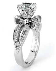 In the way way way future for one of my daughters this is adorable and beautiful. Its a bow ring! Bling Bling, The Bling Ring, Wedding Engagement, Wedding Rings, Engagement Rings, Perfect Wedding, Dream Wedding, Jewelry Box, Jewelry Accessories