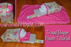 Our South House: Travel Diaper Pouch sewing tutorial and changing pad