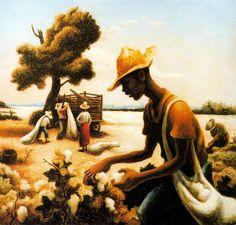 The Cotton Picker. Thomas Hart Benton