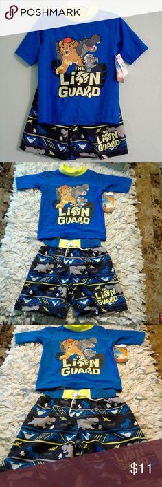The Lion Guard Toddler Swim Set Brand new toddler swim set, swim shirt and swim bottoms.  Size is 2T. Disney Swim