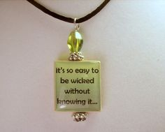 ANNE of GREEN GABLES Quote Scrabble Pendant / Upcycled Beaded / Charm / Book Lover Gift #anne of green gables #ANNE OF GREEN GABLES  #GREEN GABLES