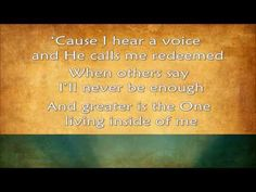 Greater - MercyMe (2014) HD - with lyrics Jesus is everything to me!!!!!!!!!!!!!