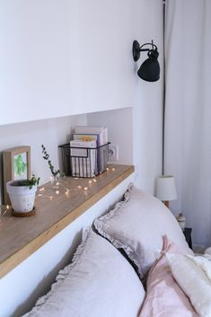 tips to transform your room decorate garland small decor small price m … - - Home Bedroom, Bedroom Wall, Bedroom Decor, Ikea Bedroom, Bedroom Furniture, Cama Design, Bed Designs With Storage, House Design, Interior Design