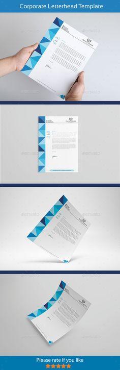 Corporate Letterhead Vol-05 Letterhead template, Template and - corporate letterhead template
