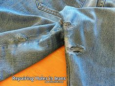 How to Repair Holes in Jeans - from @sharonfh