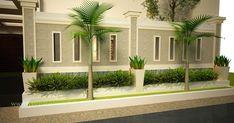 Simple Minimalist Yet Charming House Fence Design Ideas - CasaNesia Compound Wall Gate Design, Gate Wall Design, House Fence Design, Front Wall Design, House Outside Design, Modern Fence Design, Exterior House Colors, Exterior Design, Wall Exterior