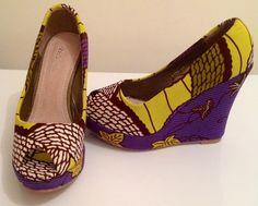 Chaussures en wax_JV - par MULEMA #fashion #shoes #wax #style #mulema #afrikrea #beautiful #handmade