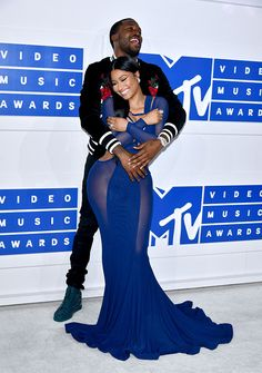Nicki Minaj & Meek Mill attends the 2016 MTV Video Music Awards