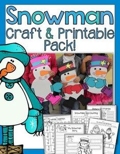 This is the perfect craft to decorate your room or bulletin boards for the winter! This packet also contains math and literacy printables that are al aligned to common core. {grades PreK-1}