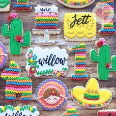 Cinco de Mayo Fiesta Birthday Party Sugar Cookies I Heart Sprinkles Cookies Mexican Birthday Parties, Mexican Fiesta Party, Fiesta Theme Party, Taco Party, First Birthday Parties, Birthday Party Themes, First Birthdays, Birthday Ideas, 2nd Birthday