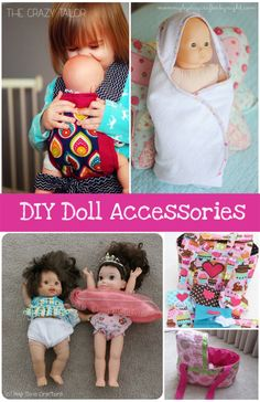DIY Baby Doll Accessories Round-up