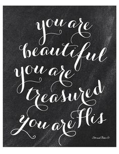 You Are His Print Scripture Bible Verse by loveandgraceco