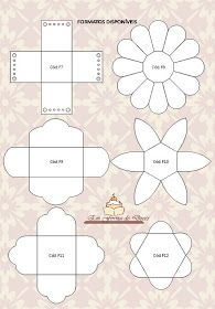 Do It Yourself - Tips and Footsteps: Paper Cups for Sweets Diy Paper, Paper Art, Paper Crafts, Paper Cups, Diy Gift Box, Diy Box, Diy And Crafts, Crafts For Kids, Flower Template
