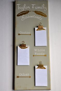 ::DESCRIPTION::  THIS LISTING IS FOR ONE CUSTOMIZED WOODEN GROCERY SIGN.  Organize yourself and decorate your house at the same time with this