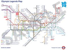Olympic Legends Map of London Underground