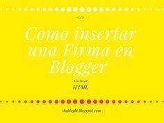 Desde theblogbt.blogspot.com.es explican como poner una firma en blogger sin tocar código HTML