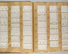 Whitework sample book Met Museum