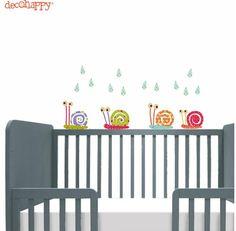Mini vinilos de Decohappy para la habitacion del bebé