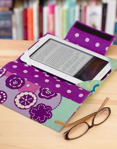 """Literary Genius E-Reader Cover"" from Everyday Handmade"