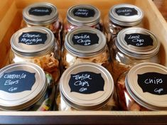 Organizing with Container Store Products - Happy Happy Nester Small Pantry Organization, Container Organization, Organization Hacks, Pantry Ideas, Organizing Tips, Organising, Cereal Storage, Jar Storage, Storage Ideas