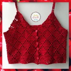 Crochet Summer Tops, Crochet Halter Tops, Crochet Crop Top, Crochet Blouse, Débardeurs Au Crochet, Crochet Stitches, Crochet Patterns, How To Make Clothes, Crochet Handbags