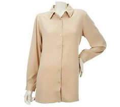 Pin to Win #SusanGraver Sweepstakes! {Stretch Peachskin Button Front Big Shirt} Enter here: http://sweeps.pinfluencer.com/QVC