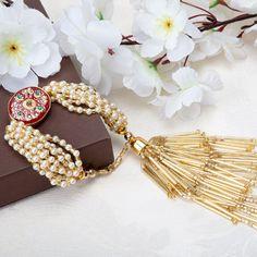 Raksha Bandhan - Rakhi or Raksha Bandhan is a holy festival of India. Raksha Bandhan is a festival of faith and love between brother and sister. Handmade Rakhi Designs, Handmade Jewelry Designs, Antique Jewellery Designs, Fancy Jewellery, Hand Jewelry, Fabric Jewelry, Rakhi Bracelet, Diy Lace Ribbon Flowers, Silk Thread Bangles Design