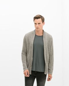 AW 2014 KNITTED OPEN JACKET from Zara