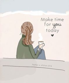 Wall Art for Women - Make Time For You Today - Wall Art Print - Digital Art…