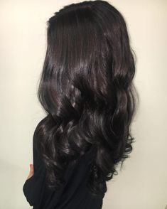 Soft Chocolate Brown Highlights and Curls