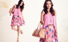 Colorful Destiny Chiffon Skirt & Sunshine Mist Chiffon Dress via Ruche