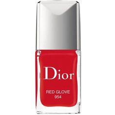 Dior Vernis Gel-Shine & Long-Wear Nail Lacquer ($27) ❤ liked on Polyvore featuring beauty products, nail care, nail polish, nails, makeup, beauty, red glove, shiny nail polish, christian dior nail polish and gel nail polish