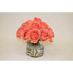 Found it at Wayfair - Roses in Cylinder Vase