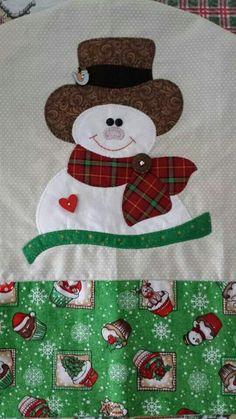 Aplique boneco de neve