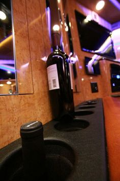 Gary has his priorities right with this wine holder on the bus. See MORE celeb motor homes here>>  http://www.greatamericancountry.com/shows/celebrity-motor-homes/top-25-celebrity-motor-homes--pictures?soc=pinterest