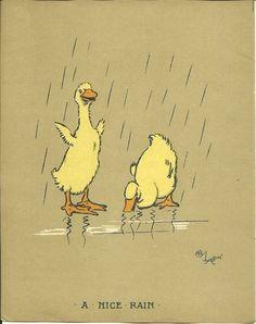 Cecil Aldin 1915 Original Antique Ducks Ducklings Farmyard Print Rare Matted