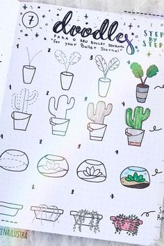 20 Best Succulent & Cactus Doodle Ideas for Bujo Addicts 20 B . - 20 best succulent & cactus doodle ideas for bujo addicts 20 best succulent & cactus doo - Bullet Journal Banner, Bullet Journal Notebook, Bullet Journal Ideas Pages, Bullet Journal Layout, Bullet Journal Inspiration, Art Journal Pages, Journal Prompts, Bullet Journals, Drawing Journal