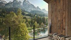 Hotel-Ausblick auf die Alpen Hotels, Mountains, Digital, Nature, Travel, Wellness, Vacation Places, Alps, Destinations
