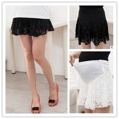 Online Shop Maternity clothing summer three-dimensional shorts maternity dress fashion lace belly pants culottes|Aliexpress Mobile