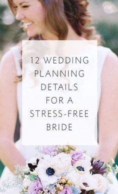 12 wedding planning details that will help ease your mind as you plan your day!